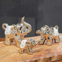 (kcrz083)키다리 큐빅 꽃 코끼리 골드 (3p set)