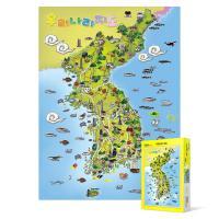 500피스 직소퍼즐 - 우리나라 지도