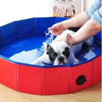 강아지 접이식 수영장 욕조-중형 (pt)