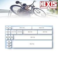 [HEXIS]자전거보호필름/PPF/생활보호패키지/기스방지/스크래치방지/투명보호필름
