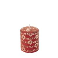 [페르니시] 메리크리스마스 데코 캔들 - 레드 (10cm)