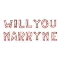 알파벳은박풍선세트 (WILL YOU MARRY ME) 로즈골드