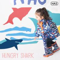 [헤즈] 아동 레인코트_헝그리샤크(HUNGRY SHARK)