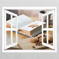 cg677-독서의계절_창문그림액자