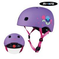 마이크로킥보드 아동용 헬멧 디럭스 V2 플로랄퍼플 S