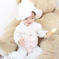[메르베] 미니미f 출산선물세트(바디슈트+모자)_사계절용