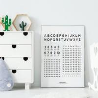 유아 한글 숫자 영어 학습 통합포스터
