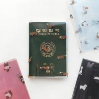 핑크풋 헤이 투명 여권케이스