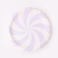 롤리팝 파티접시 18cm - 라벤더(6입)