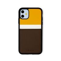 스매스 아이폰11 보호 카드케이스 씨원_옐로우/브라운
