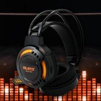 [레토] 프로 LED라이팅 게이밍 헤드셋 HUiK-HS1