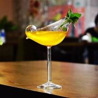홈카페 독특한 칵테일잔 유리잔 새 백조 유리컵