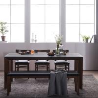 [채우리] 로쉬 화산석 6인식탁세트(의자/벤치)