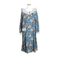 [쿠비카]숄더 프릴 레이스 긴팔 투피스 여성잠옷 W340