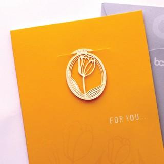 심플 튤립축제 - 책갈피카드