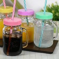 드링킹자 유리머그컵(에이드잔) 460ml-색상선택