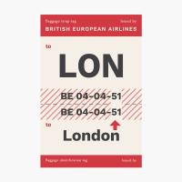 에어라인택 포스트카드 엽서 - London