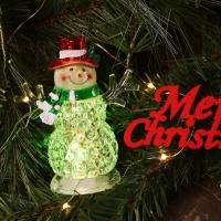 LED점등 크리스탈 인형장식 (눈사람)