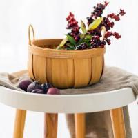 손잡이 대나무 과일 피크닉 바구니 (소형)