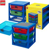 [LEGO] 3단 서랍형 정리함 블루/ 정품 레고놀이판포함