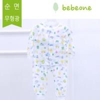 [베베원] 큐티 긴팔내의상하복 봄여름 유아 아기 출산 백일 돌선물