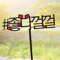 샵한줄 T029 케이크토퍼 여행토퍼 자유문구변경