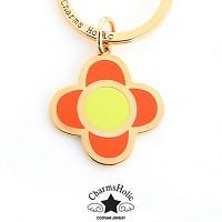 [참스홀릭]Orange clover charmset  gold cks402