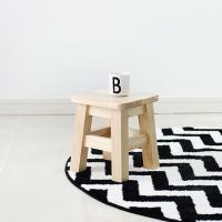 [벤트리]원목 다용도 사각스툴 小자형