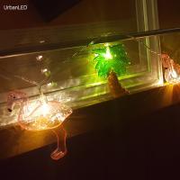 어반 LED 홍학 플라밍고와 야자나무 무드등