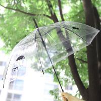심심토끼 투명 우산