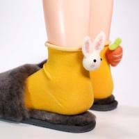 [갓샵 핵인싸템! 토끼당근양말 4color] 귀여운예쁜동물삭스 캐릭터학생양말