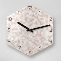 리플렉스 6각 몰드 브라운 무소음 아크릴 벽시계(대) OLD15