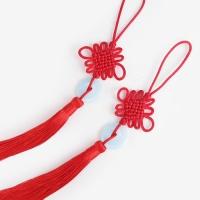 [인디고샵] 옥 장식 적색 전통 매듭 노리개 (2개)