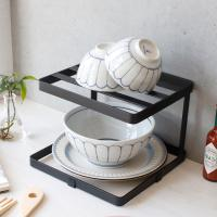 디몬 철제 접시 정리대 주방선반 (사각2단) - 4color