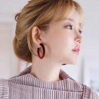 벨벳 링 귀걸이