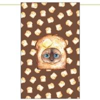 노렌(입구커튼) - 탄식빵고양이 (51X81cm)