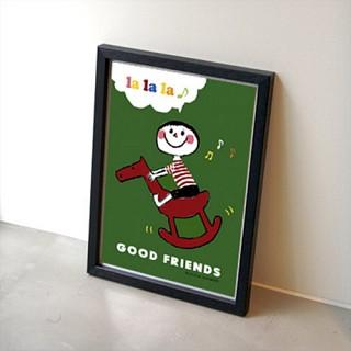 GOOD FRIENDS 포스터 - 그린