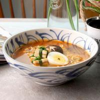 일본식기 청파랑 와이드 면기