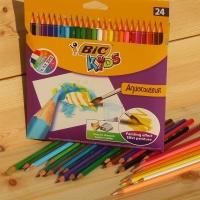[BiC] 빅 키즈 컬러링 24색 수채색연필 Aquacouleur HA162-2
