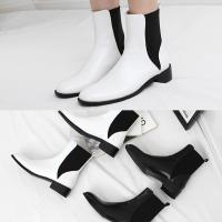 [애슬릿]발 편한 둥근코 여성 첼시 부츠 3.5cm