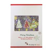 크리스마스카드/성탄절/트리/산타 x-mas 보라빛트리 card (FS201-6)