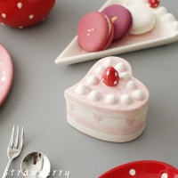 [2HOT] 딸기 하트 케이크 보관용기