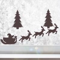 페이퍼 크리스마스 데코픽(6입) - 썰매