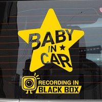 baby in car_스타 앤 블랙박스 [자동차스티커/아기가타고있어요]
