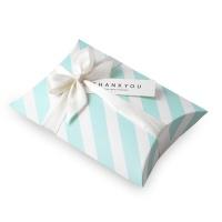 베이비블루 스트라이프 반달 상자 소 (3개)