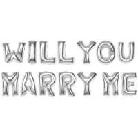 알파벳은박풍선세트 (WILL YOU MARRY ME) 실버