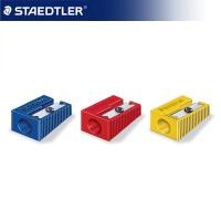 스테들러 1홀 연필깎이 3색 510-50 2개 1묶음[00135989]