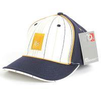 [eS] STRIPED ATHLETIC CAP (Navy)