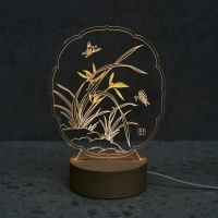 난초 자개  LED 무드등 (투명/블랙)