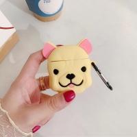에어팟프로 불독 강아지 실리콘 케이스_베이지 pro460